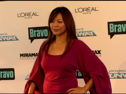 chloe dao at the 'project runway' season three launch party at buddha bar in new york, new york on july 11, 2006. - ブッダバー点の映像素材/bロール