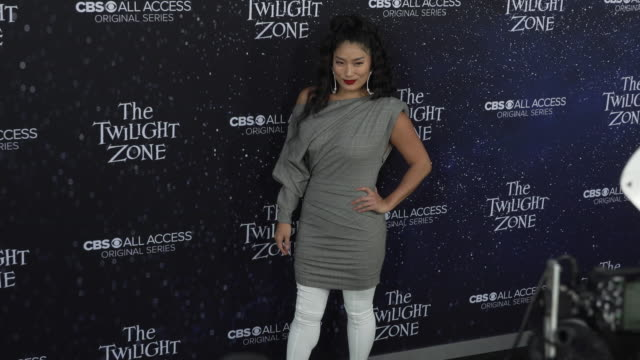 "chloe flower at the premiere of ""the twilight zone' at the harmony gold preview house and theater on march 26, 2019 in hollywood, california. - harmony gold preview theatre stock videos & royalty-free footage"