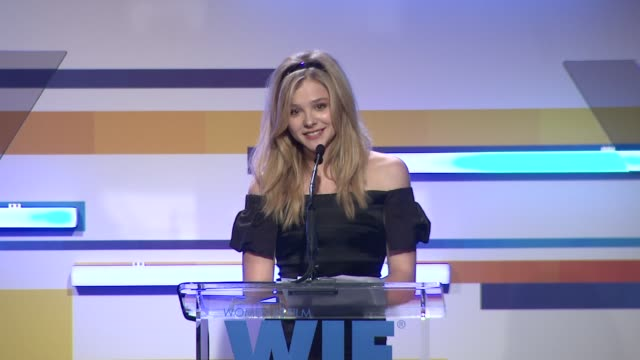 chloe grace moretz 2012 women in film crystal lucy awards at the beverly hilton hotel on june 12 2012 in beverly hills california - the beverly hilton hotel stock videos & royalty-free footage