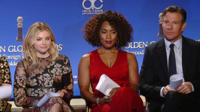 Chloe Grace Moretz Angela Bassett Dennis Quaid at the 73rd Annual Golden Globe Awards Nominations Announcement on December 10 2015 in Beverly Hills...