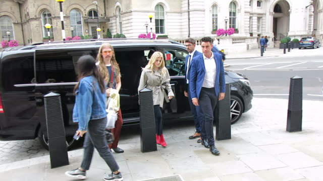 chloe grace moretz at bbc radio studios at london celebrity sightings on august 22 2018 in london england - audio electronics stock videos & royalty-free footage