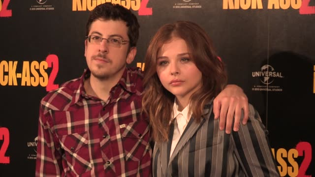 chloe grace moretz at kick ass 2 photocall at claridges hotel on august 05 2013 in london england - kick ass film title stock videos & royalty-free footage