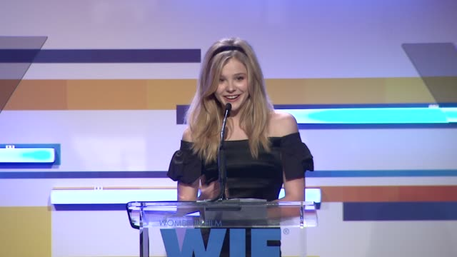 chloe grace moretz at the 2012 women in film crystal lucy awards speech chloe grace moretz at the 2012 women in fi at the beverly hilton hotel on... - the beverly hilton hotel stock videos & royalty-free footage