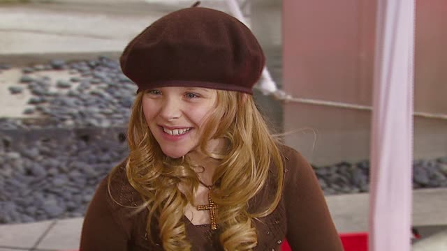 chloe grace moretz at the 'charlotte's web' los angeles premiere at arclight cinemas in hollywood california on december 10 2006 - chloe designer label stock videos and b-roll footage