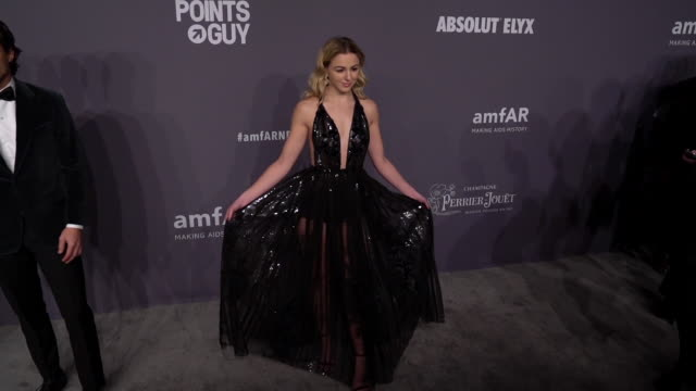 chloe lukasiak at the 21st annual amfar gala new york at cipriani wall street on february 06 2019 in new york city - amfar stock videos & royalty-free footage
