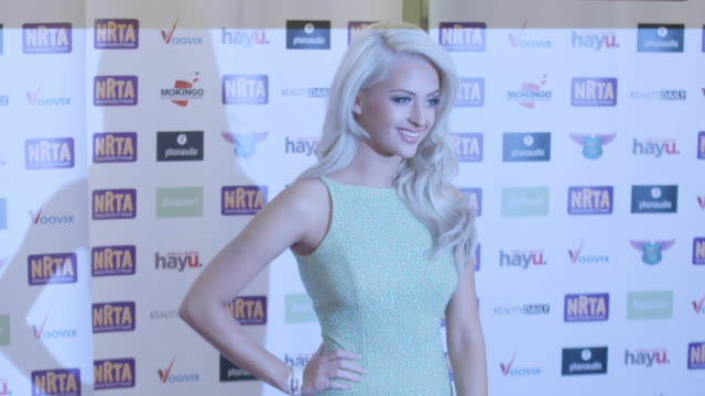 chloe paige at national reality tv awards on september 29 2016 in london england - reality tv stock videos and b-roll footage