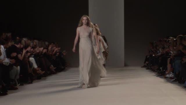 chloe paris fashion week s/s 2010 - chloe designer label stock videos and b-roll footage