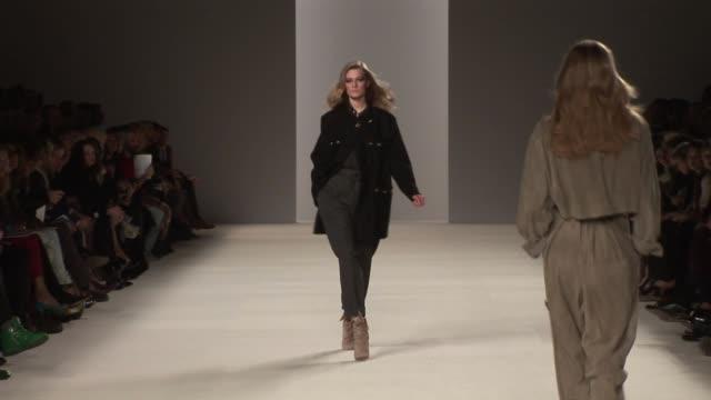 chloe runway at the chloe paris fashion week a/w 2009 at paris - chloe designer label stock videos and b-roll footage
