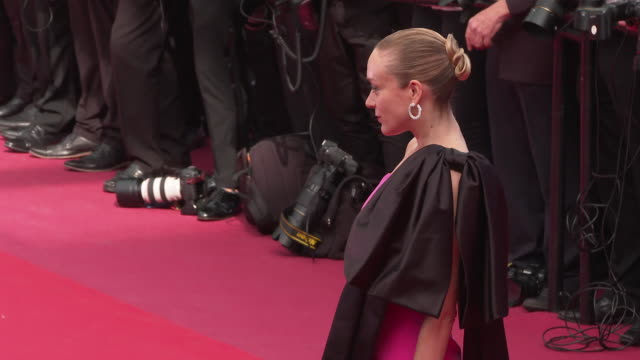 chloe sevigny at 'once upon a time in hollywood ' red carpet arrivals the 72nd cannes film festival at grand theatre lumiere on may 21 2019 in cannes... - grand theatre lumiere stock videos & royalty-free footage