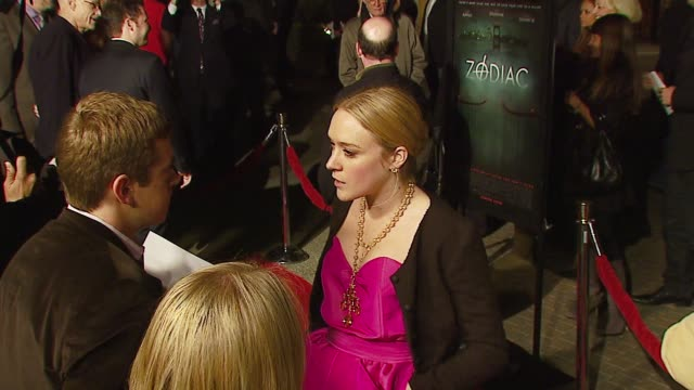 chloe sevigny at the 'zodiac' premiere at paramount theatre in los angeles california on march 1 2007 - conceptual symbol stock videos and b-roll footage