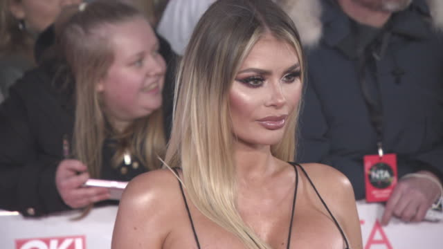 Chloe Sims at National Television Awards at The O2 Arena on January 23 2018 in London England