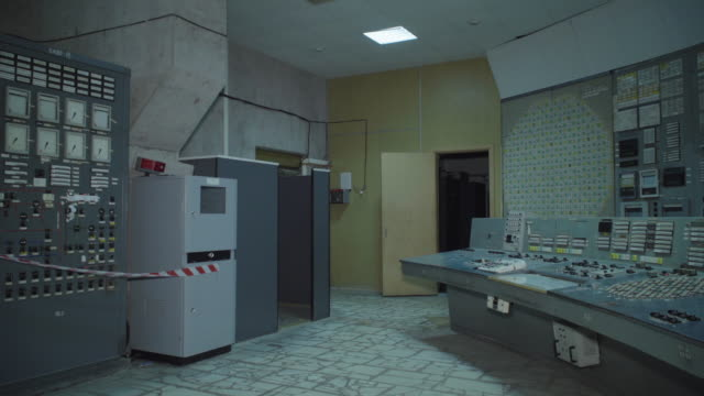 chnpp reactor 3 unit control room , where all main technological processes were controlled during reactor operation near chernobyl, on june 18, 2019.... - nuclear reactor stock videos & royalty-free footage