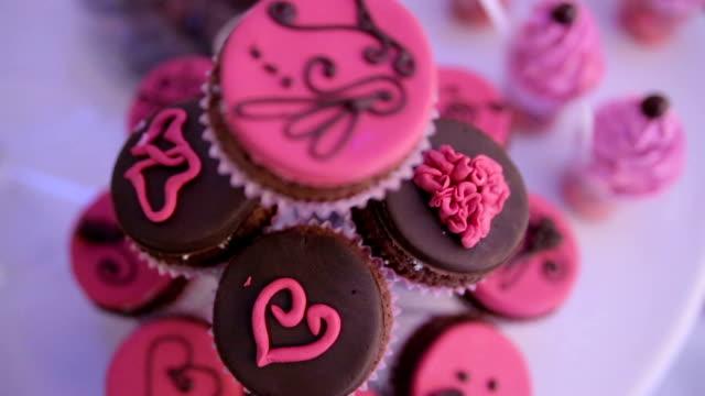 chocolate cake - strawberry milkshake stock videos & royalty-free footage