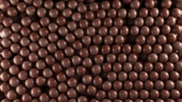 Chocolate candy balls with alpha matte