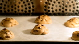 TL chocolate chip cookie baked in oven