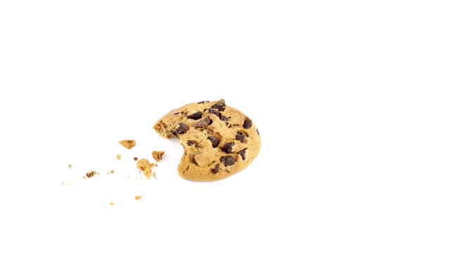chocolate chip cookie rotating - chocolate chip cookie stock videos and b-roll footage