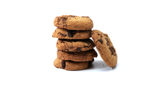 chocolate chip cookies - stack stock videos & royalty-free footage