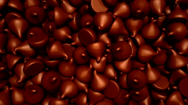 chocolate chips - chocolate chip stock videos & royalty-free footage