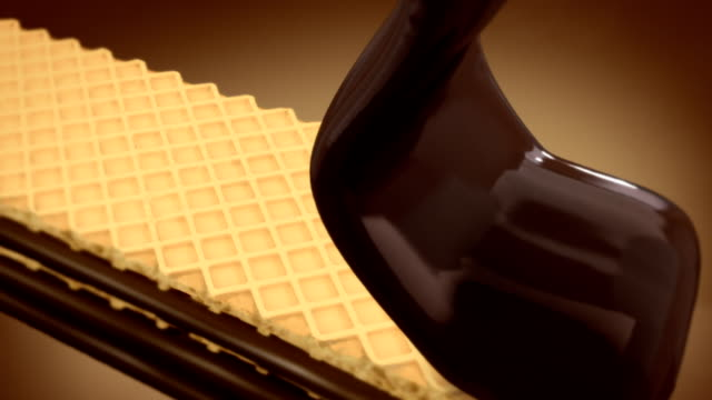 chocolate covered wafer - wafer stock videos and b-roll footage