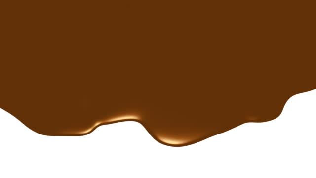 gocciolamento al cioccolato - perdita video stock e b–roll