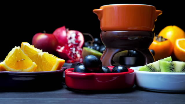 chocolate fondue - fondue stock videos & royalty-free footage