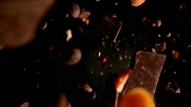 chocolate food explosion - ingredient stock videos & royalty-free footage