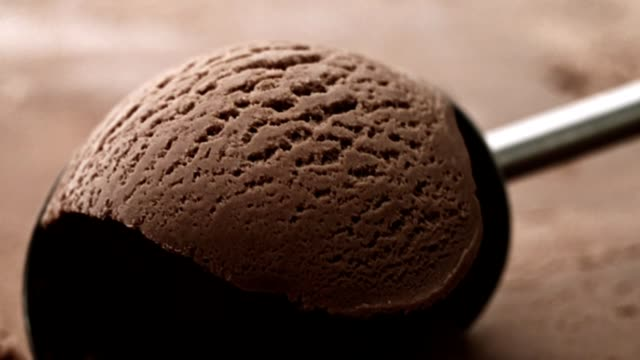 chocolate ice cream scooping - serving scoop stock videos & royalty-free footage