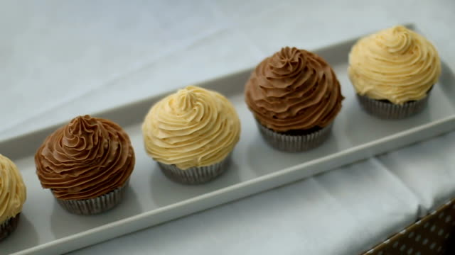 chocolate muffins - cupcake stock videos & royalty-free footage
