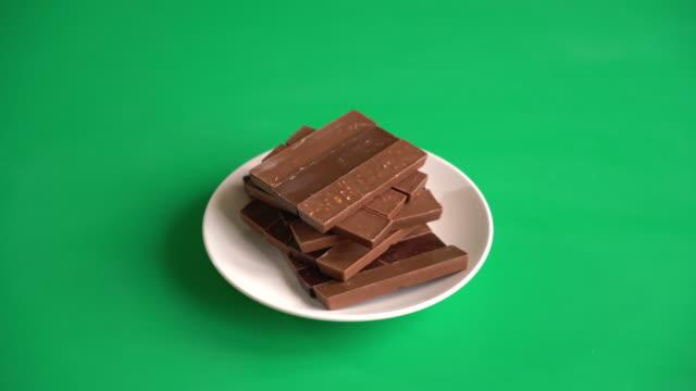 chocolate on green screen