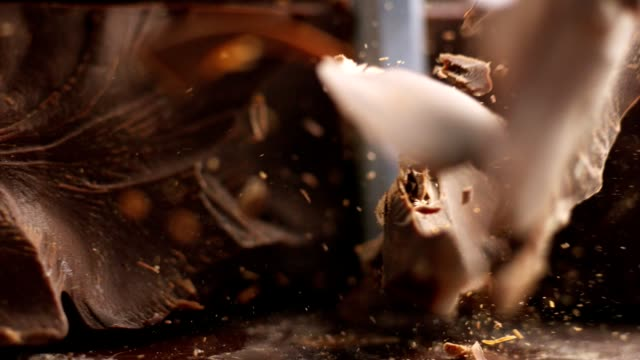 chocolate pieces falling down - crumb stock videos & royalty-free footage