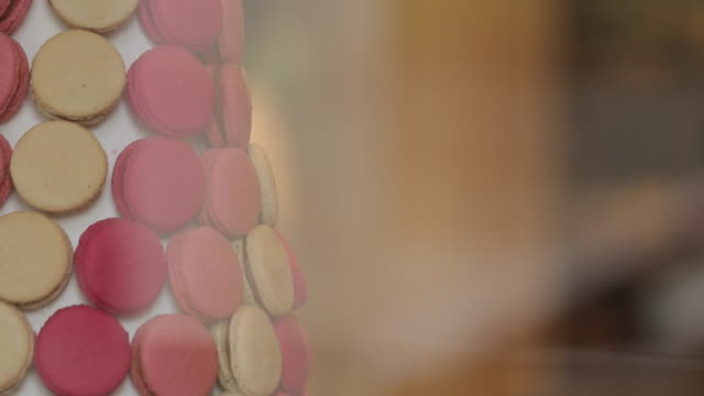 chocolate shop, paris, france, europe - macaroon stock videos & royalty-free footage