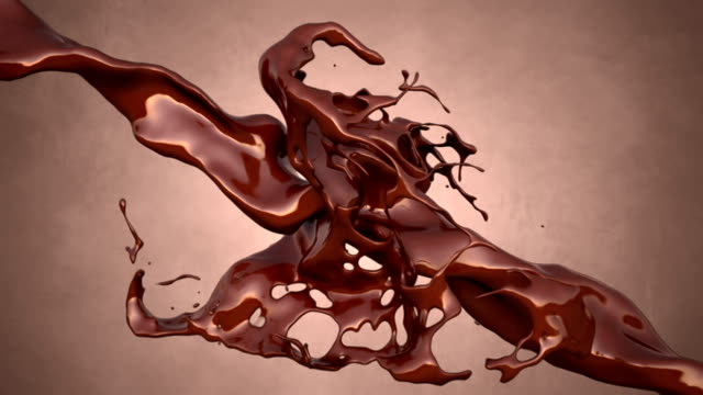stockvideo's en b-roll-footage met chocolate splash - melk