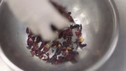 Chocolatier's Kitchen - Dried Hibiscus Leaves in A Bowl
