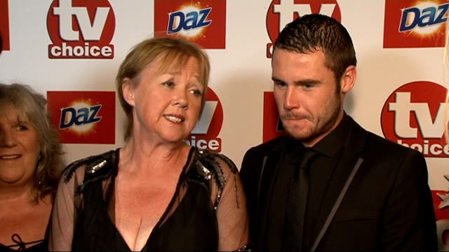 red carpet general views and interviews pauline quirke and danny miller interviewed sot on the soap and there being lots of drama / on whether they... - pauline quirke stock videos & royalty-free footage