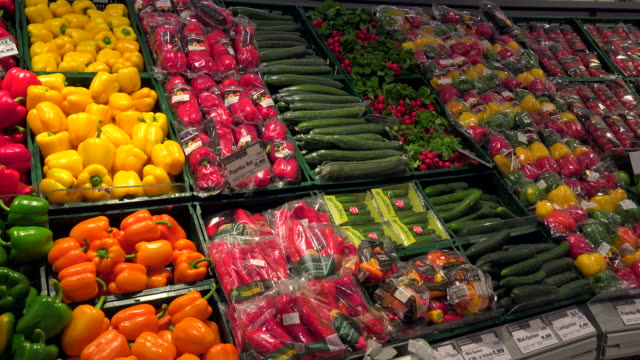 choice of vegetables in a supermarket - abundance stock videos & royalty-free footage