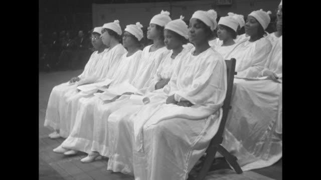 choir members / side view members / man, maybe choir member / note: exact day not known - revival stock videos & royalty-free footage