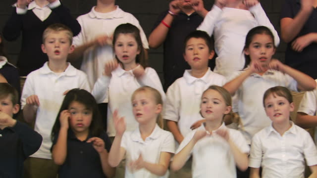 choir of school children - choir stock videos & royalty-free footage