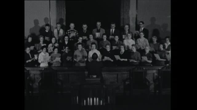choir singing - 1961 stock videos & royalty-free footage