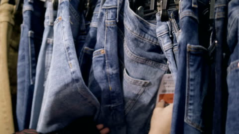 chooses jeans - jeans stock videos & royalty-free footage
