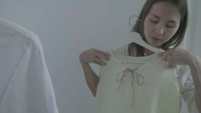 Choosing dress at home Simple living