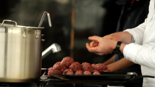chop meat on a stick - meat chop stock videos and b-roll footage