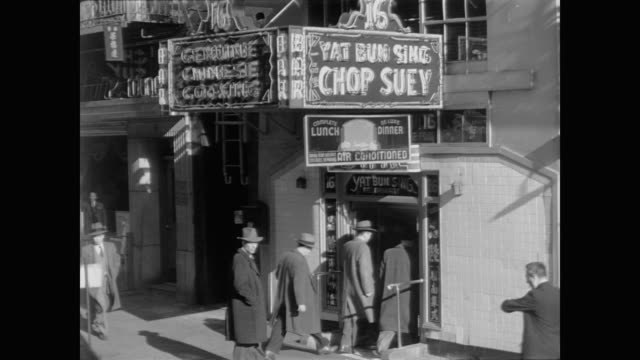 1948 chop suey restaurant in chinatown, nyc - chinese food stock videos & royalty-free footage