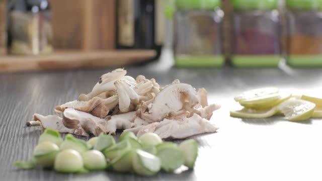 raw food. chop vegetables.healthy food. colorful cuisine - kitchen worktop stock videos & royalty-free footage