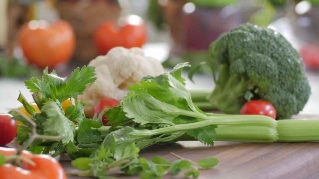 raw food. chop vegetables.healthy food. colorful cuisine - broccoli stock videos & royalty-free footage