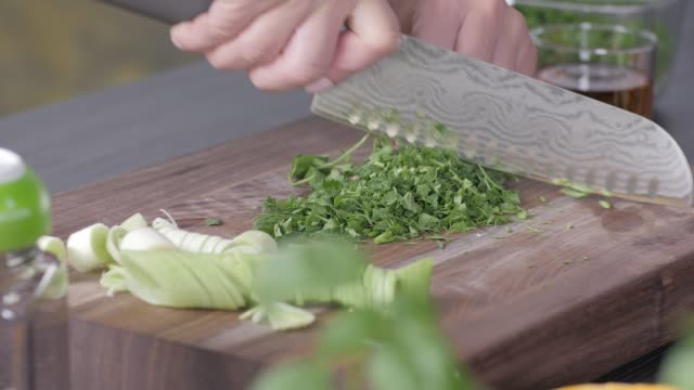 raw food. chop vegetables.healthy food. colorful cuisine - parsley stock videos and b-roll footage