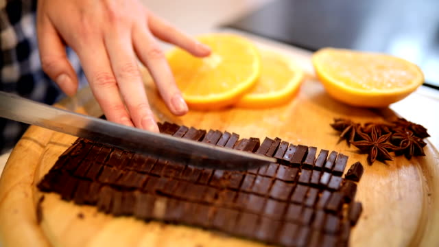Chopping a Bar of Chocolate