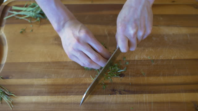 chopping herb