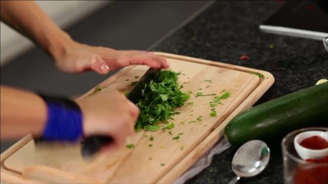 chopping parsley - grape leaf stock videos & royalty-free footage