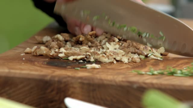 chopping - nut food stock videos & royalty-free footage