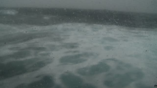 choppy waves roll through the southern ocean. available in hd. - antarctic ocean stock videos & royalty-free footage